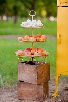 peach wedding