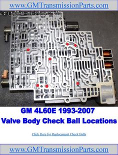 Check ball locations in GM's transmission valve bodies. There are a total of 7 check balls used in valve bodies Get replacement balls from . 4l60e Transmission Rebuild, Transmission Repair Shop, Automatic Transmission, Truck Repair, Engine Repair, Engine Rebuild, Gm Transmissions, Car Ecu, Chevy Pickups