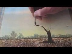How To Paint A Landscape In Watercolour With Winter Trees For Beginners & Improvers