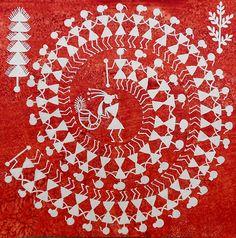 indian folk art, paper chain