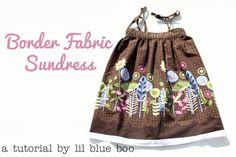 DIY border fabric sundress sewing tutorial via lilblueboo.com