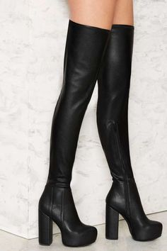 Jeffrey Campbell Bedelia Caviar Thigh-High Boot