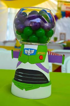 Ethan'S bday center pieces toy story birthday, diy birthday, first birthday parties, Bolo Toy Story, Toy Story Baby, Toy Story Theme, Toy Story Birthday, Toy Story 3, 6th Birthday Parties, 2nd Birthday, Birthday Ideas, Toy Story Centerpieces