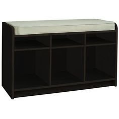 Martha Stewart Living - Espresso Storage Bench with Seat and Cubbie Storage - 496300 - Home Depot Canada