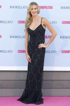 Patricia Montero, actriz, con vestido de bdba