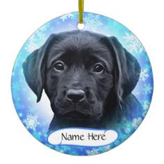Personalized Labrador Christmas Ornament Black Puppy Black Labrador Black Labs Black Puppy Labrador