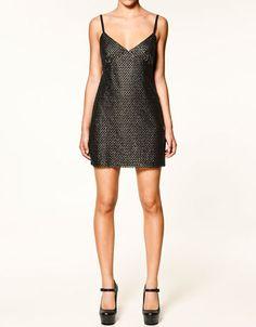 sequinned dress
