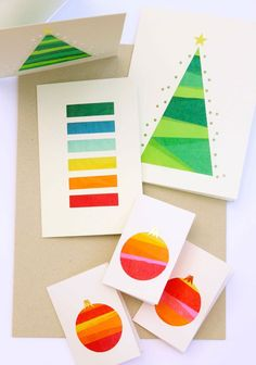 9 More Easy Homemade Christmas Cards with Step by Step Instructions – DIY Fan Diy Holiday Cards, Family Christmas Cards, Christmas Paper Crafts, Homemade Christmas Cards, Xmas Cards, Homemade Cards, Rustic Christmas, Christmas Activities, Christmas Projects