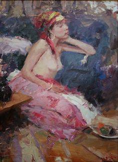Dan Beck - Longing in Lavender Living In Colorado, Beauty Art, Love Art, Impressionist, Dan, Lavender, Painting, American, Girls