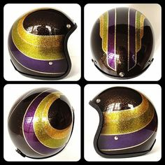 Each helmet sent to us is painted one at a time by hand and is replaced with custom trim (black or chrome) and also has a high quality mirr...