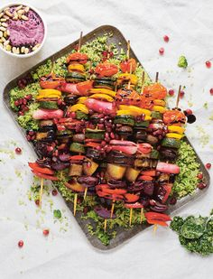 Chargrilled Vegetable Kebabs Prep Time: 30 Minutes | Cooking Time: 10 MinutesServes 4