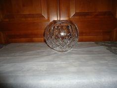"""Vintage 1980's Waterford Crystal 6"""" Round Rose Bowl. Ireland.  AS IS. #214/318 #WaterfordCrystal"""