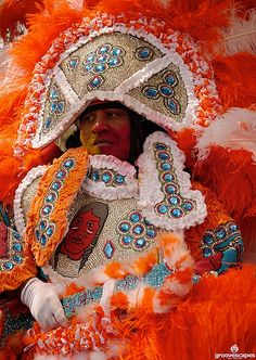 Mardi Gras Indian in New Orleans. (Photo from flickr, courtesy of Groovescapes)