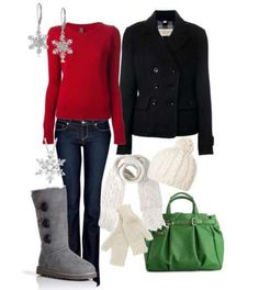 Christmas outfit like all but the bag and earrings