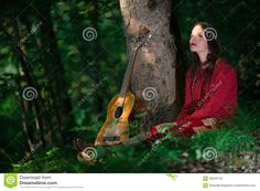 Hippie Girl With The Guitar - Download From Over 46 Million High Quality Stock…