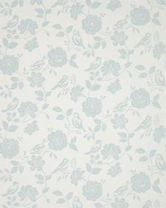 iLiv Wallpaper Henley Bird Garden Collection Duckegg ILWQ/BIRDDUCK