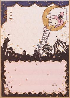 kawaii Memo Pad Sentimental Circus bunny Shappo curtain  4
