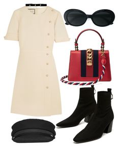 """""""Untitled #1117"""" by veronice-lopez on Polyvore featuring Gucci, Yves Saint Laurent and Bartoli"""