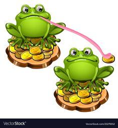 Frog Art, Green Frog, Glass Animals, Disney Tattoos, Adobe Illustrator, Vector Art, Clip Art, Illustration, Cute