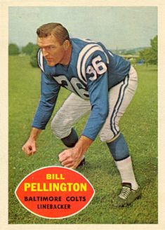 topps football cards 1960 | on card bill pennington card number 8 year 1960 set name 1960 topps ...