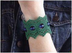 Patrones Crochet: Pulsera de Crochet con Perlas