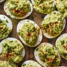 NEW These are the creamy avocado deviled eggs of your dreams! These apps are loaded with healthy fats low carbs protein and love! Double the recipe they wont last long! Paleo Deviled Eggs, Avocado Deviled Eggs, No Carb Food List, Best Low Carb Bread, Appetizer Recipes, Appetizers, Appetizer Ideas, Low Carb Greek Yogurt, Photo Food
