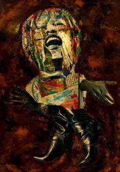 """Saatchi Art Artist CARMEN LUNA; Collage, """"37-Collagemania. Gosppel."""" #art"""