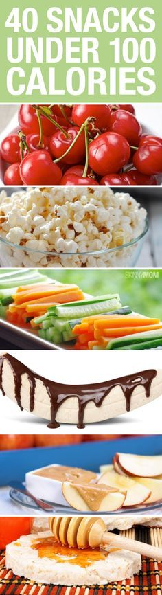 Super yummy snacks under 100 calories!