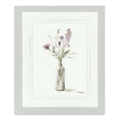 Sugared Violet by Adelene Fletcher depicts the violets and their purple colouring beautifully. View more framed prints online. Free UK delivery over Framed Prints Online, Art Market, Picture Frames, Glass Vase, Floral Design, Delicate, Violets, Free Uk, Wall Art