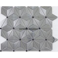 Mosaique inox poli miroir 1 plaque carrelage credence GALETMIROIR ...