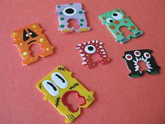 Recycled Bread Tag Monsters - Crafts by Amanda