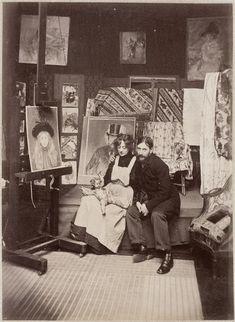 Le peintre Forain et sa femme dans leur atelier, 1891