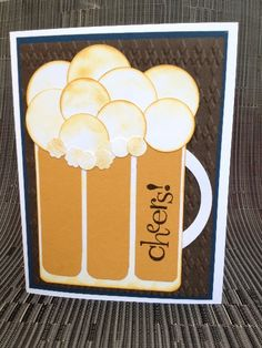 Cheers Beer card from StampingArtStudio.com - Great card for a guy!