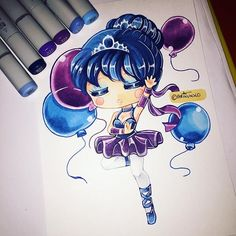 Quick humanised Ballora chibi