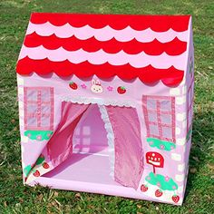 Pink Princess Play House Tent for Indoor and Outdoor Use
