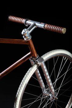 Fahrrad, Holz, Leder, Chrome einfach edel