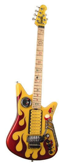 "Music Man Nigel Tufnel ""Mr. Horsepower"" Guitar. The tach works, too."
