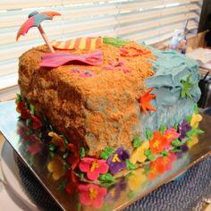 Beach cake #bridalshower #beach #cake #dessert