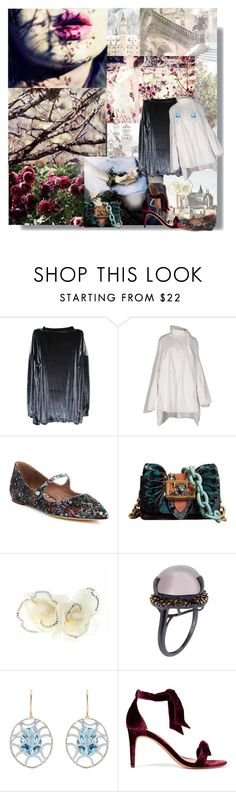 """Castles in the Sky...."" by sue-mes ❤ liked on Polyvore featuring My Mum Made It, Rick Owens, Tabitha Simmons, Burberry, Johnny Loves Rosie, Arya Esha and Alexandre Birman"