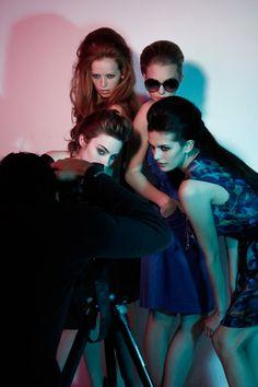 4 models modelling via thedownlowe.tumblr.com/