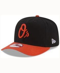 New Era Baltimore Orioles Vintage Washed 9FIFTY Snapback Cap - Black/Orange Adjustable