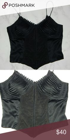 "Sue Wong Black Bustier-style top Super sexy! Great to be paired with jeans and some bombshell heels for a girls night out. Measurements:  Bust - 16""  Length - 10"" Sue Wong Tops"