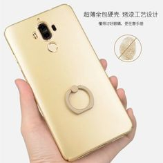 Fashion Mobile Phone Bags Case for Huawei Mate 9 Case Luxury Matte Hard Back Cover for Huawei Mate9 Cover with Ring Holder Coque