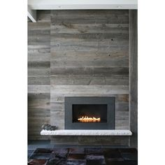 10 Fireplace Surrounds with Beautiful Wooden Wall Panels ❤ liked on Polyvore featuring rooms