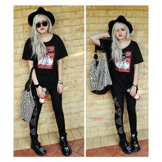 DIRTYLITTLESTYLEWHORE. ❤ liked on Polyvore featuring outfits, lookbook, pictures, backgrounds and girls