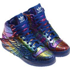 Ohhhhh Shiney shoes!!!! Love! Heren JS WINGS Synthetisch (Rubber), supplier colour / black / regal purple sld