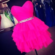 Homecoming Dress Short Prom Gown Tulle Homecoming Gowns Cute Party Gown Cheap Cocktail Dress Fuchsia Ruffled Prom Dresses For Teens Prom Dresses For Teens, Cute Prom Dresses, Grad Dresses, Dance Dresses, Pretty Dresses, Homecoming Dresses, Beautiful Dresses, Short Dresses, Formal Dresses