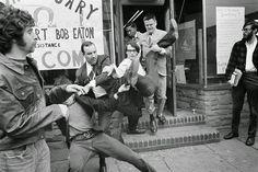 Vietnam War April 1969 man refusing draft