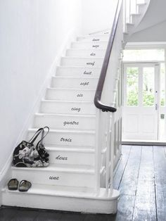 "Find and save ideas about Painted stairs on ""Staircase Ideas""."