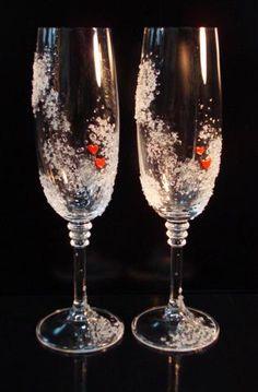 Wedding glasses «Drops of dew» #svb025